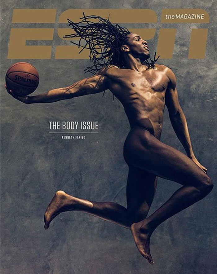 ESPN 바디이슈 2013 Kenneth Faried cover resize.jpg