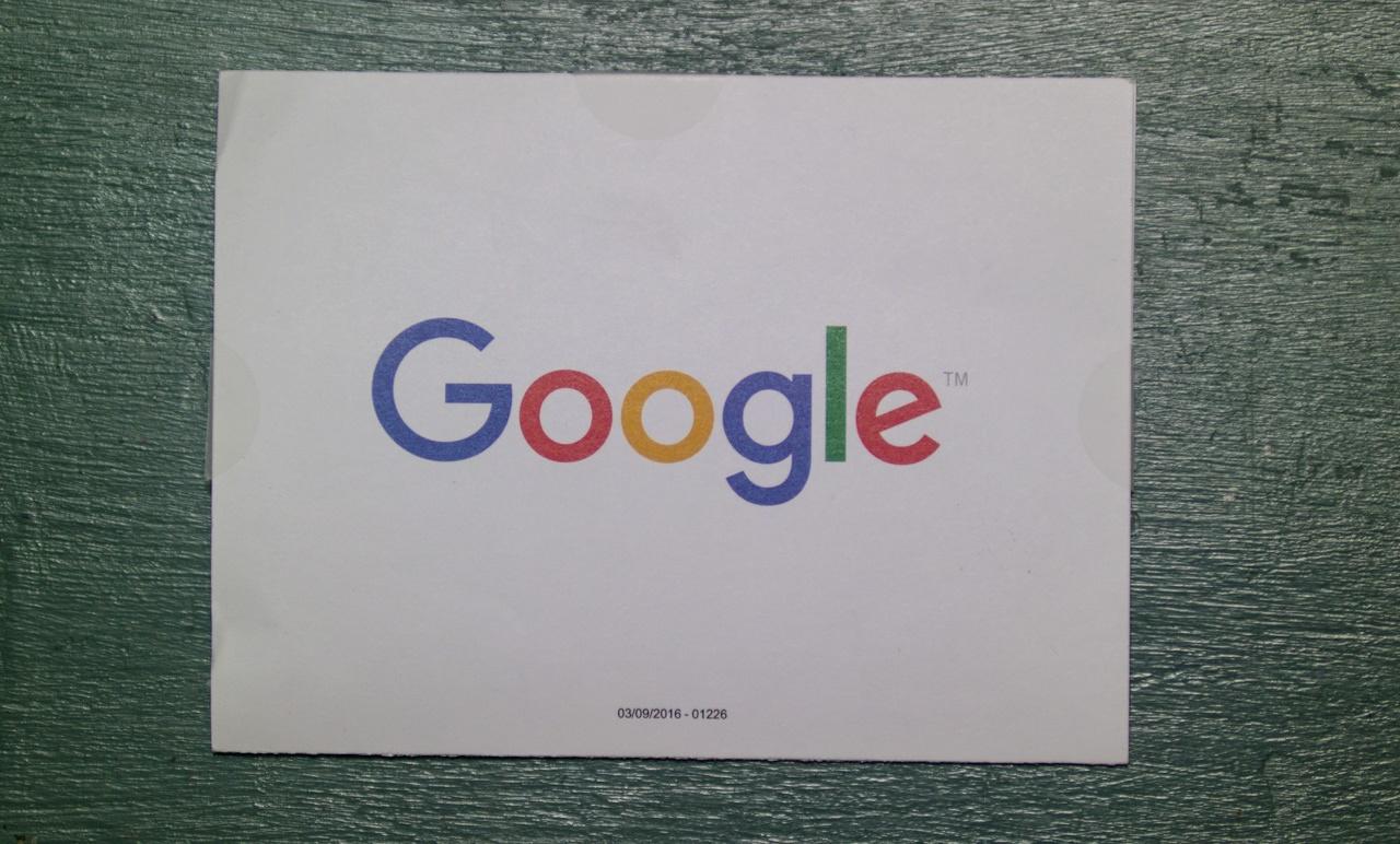 구글 애드센스 핀(PIN)번호가 들어있는 구글 엽서.jpg