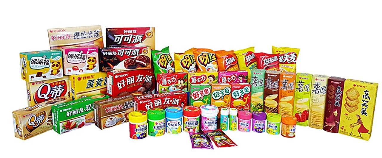 중국에서 판매중인 오리온 제품들.jpg