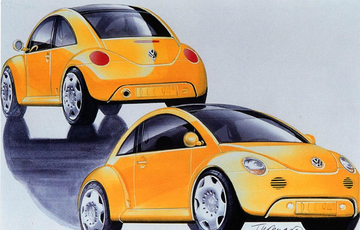 1994년 디트로리트에서 열린 북미 국제 자동차쇼에서 발표한 컨셉카 Concept1_VW_Concept_One_design-sketch_01-1024x655.jpg
