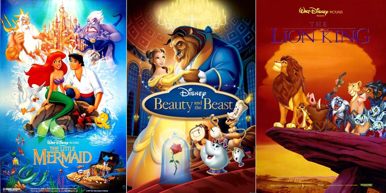디즈니 픽처스 인어공주, 미녀와 야수, 라이온 킹 포스터.jpg