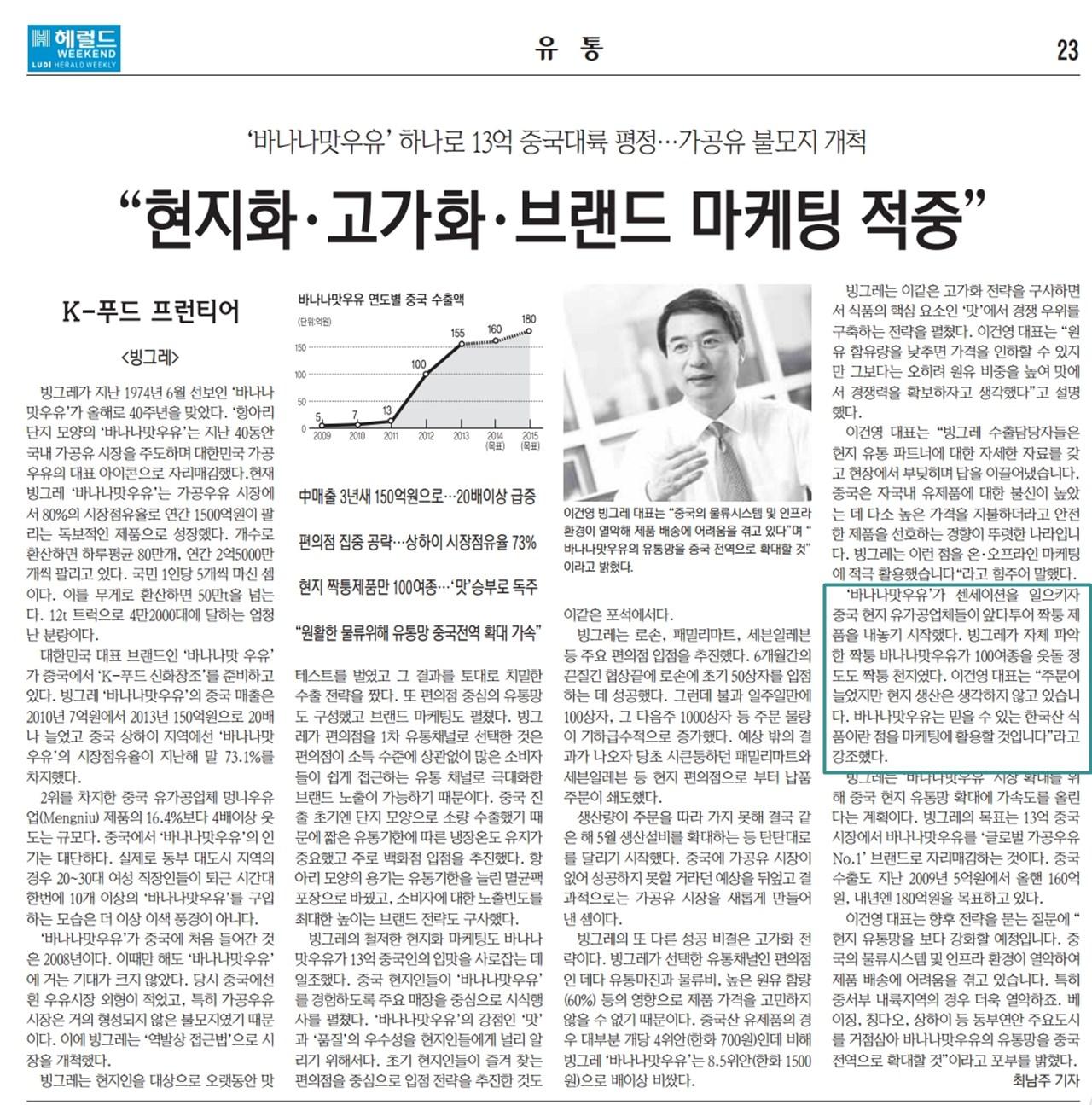 바나나맛우유 중국 진출 인터뷰 기사-헤럴드지.jpg