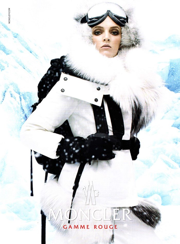 moncler gamme rouge ad woman ski snow black white 2013 moncler-ad-gammerouge.jpg