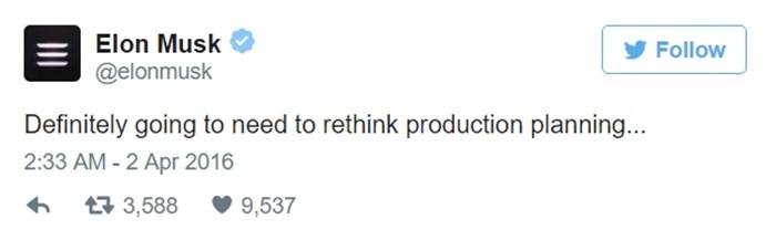 앨런 머스크 트윗 - 생산 계획을 재조정해야겠어.jpg