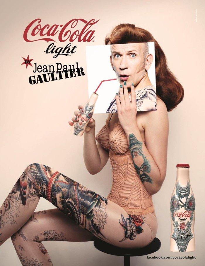 코카콜라 라이트 콜라레이션 장 폴 고티에(diet Coke_Jean paul gaultier tattoo bottle)03.jpg