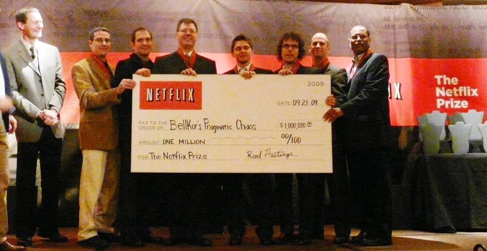 넷플릭스 백만달러 챌린지에서 우승한 BellKor's Programatic Chaos