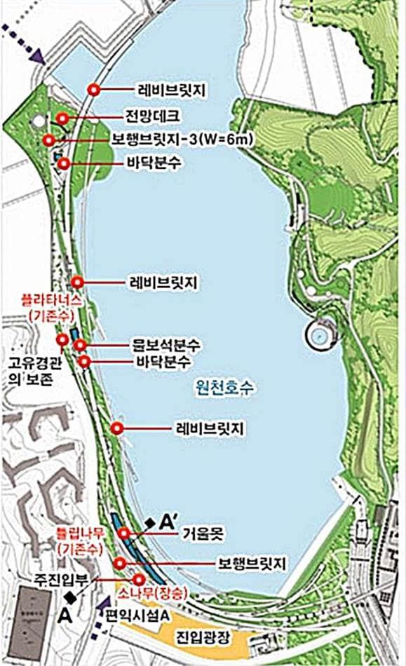 광교호수공원 지도 조금 상세