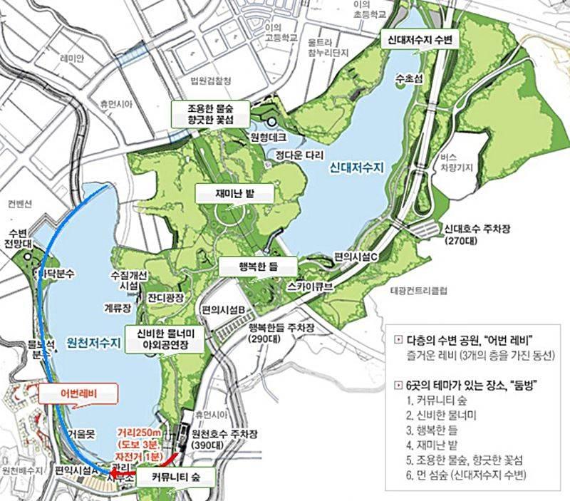 광교호수공원 지도_수원시공원녹지사업소