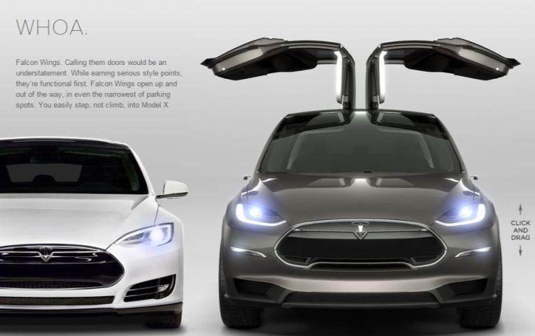 Side mirror를 없앤 Model X 초기 디자인