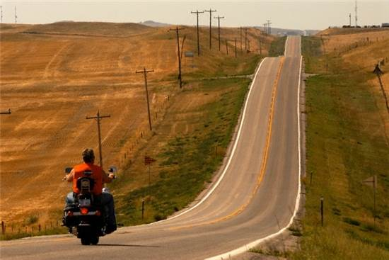 할리데이비슨(Harley-Davidson) 도로를 달리다