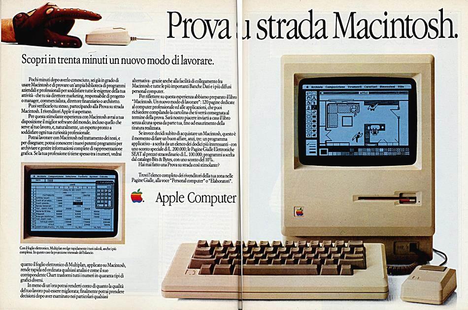 애플 매킨토시 광고 Apple Mac print ad 1985-01