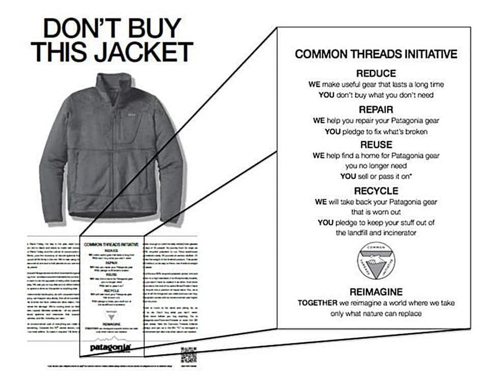 파타고니아 광고, 블랙프라이 광고,  Don't Buy This Jacket