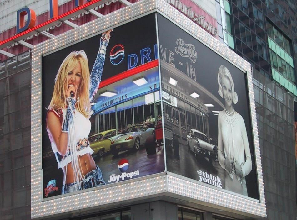 브리트니 스피어스 펩시광고_뉴욕 타임스퀘어 옥외광고 Britney Spears New York Times square resize