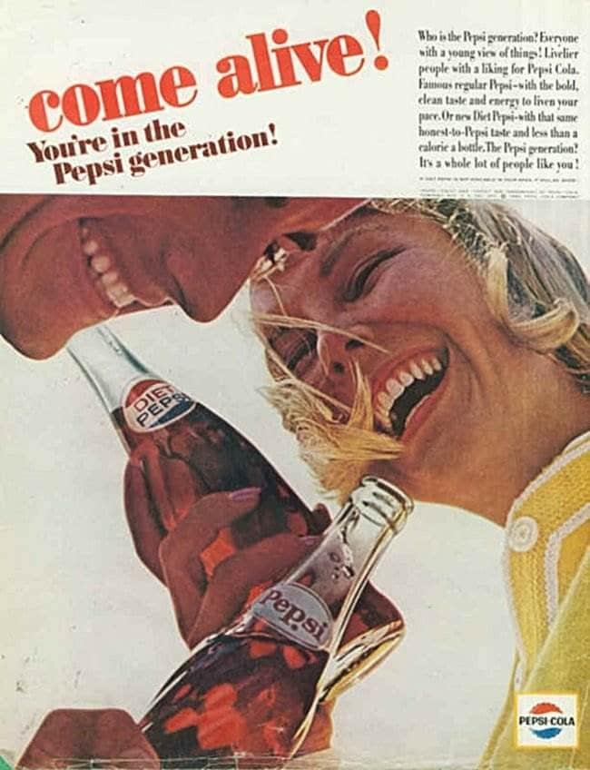 펩시 제너레이션 Pepsi Generation Come alive 1964