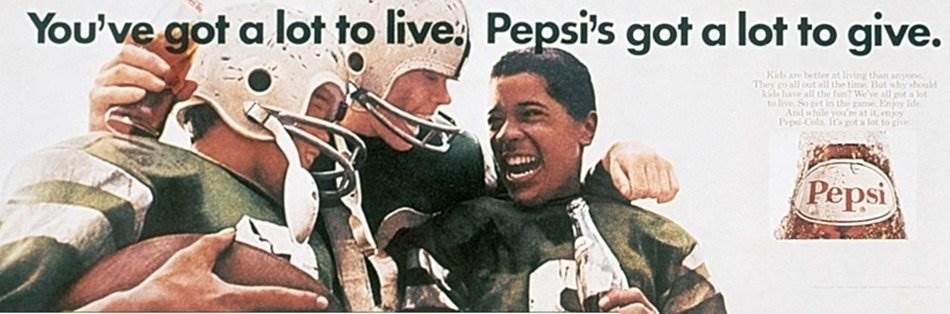 펩시 제너레이션 Pepsi Generation You've got a lot to live Pepsi's got a lot to give