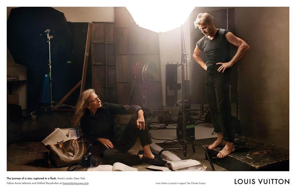 애니 레보비츠(Annie Leibovitz)와 미하일 바리시니코프(Mikhail Baryshnikov) 루이비통 광고 중에서 Louis Vuitton-Leibowitz-Core-Values