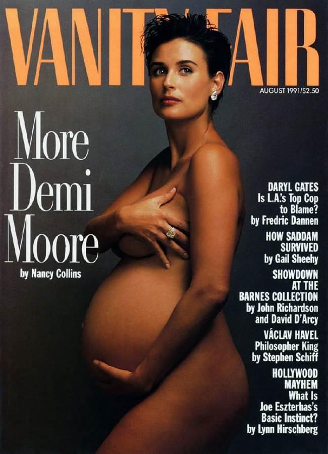 애니 레보비치가 담은 에미무어 만삭 사진 Annie Leibovitz  Demi Moore ia-vanity-fair