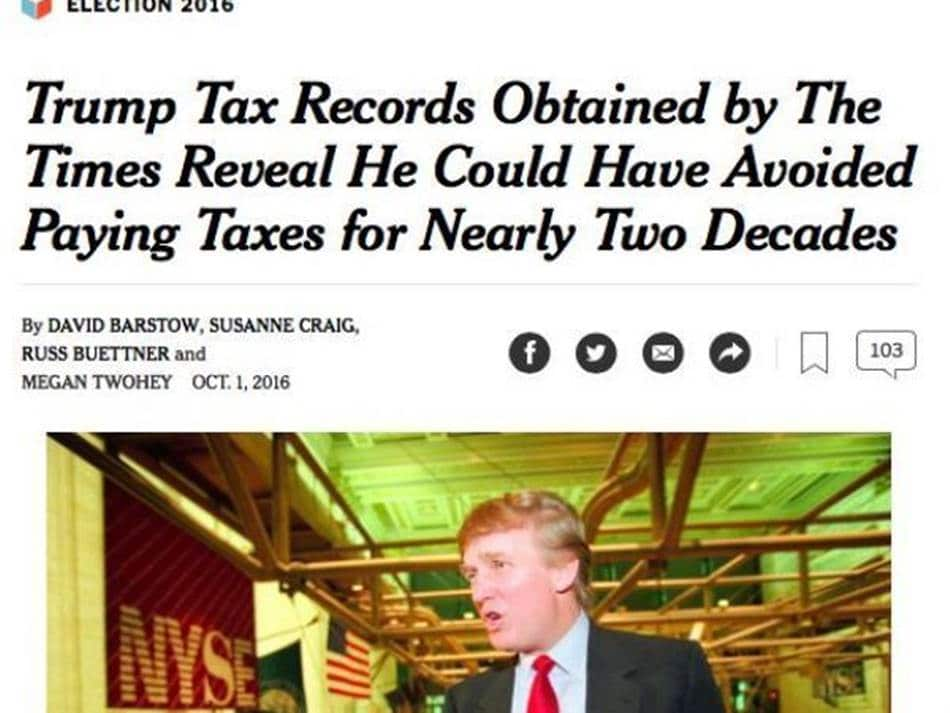 뉴욕타임즈의 트럼프 비판