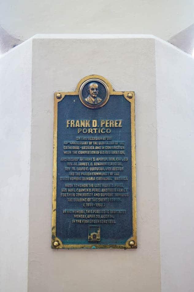 괌여행_아가나대성당_FRANK D.PEREZ 기념탑