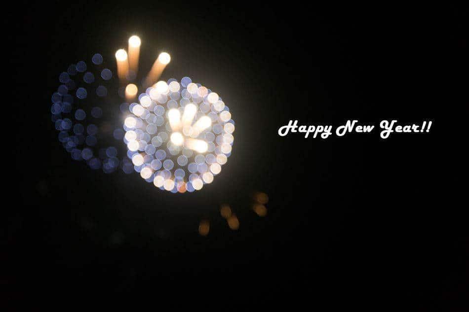 괌에서 불꽃놀이 중 Happy New Year!!