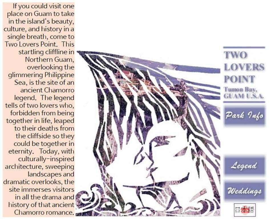 사랑의 절벽(Two Lovers Point) 홈페이지 메인