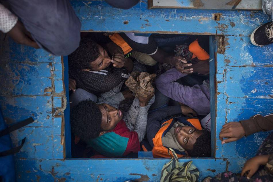2017 WORLD PRESS PHOTO' Single 수상작 지중해 난민 Mediterranean Migration
