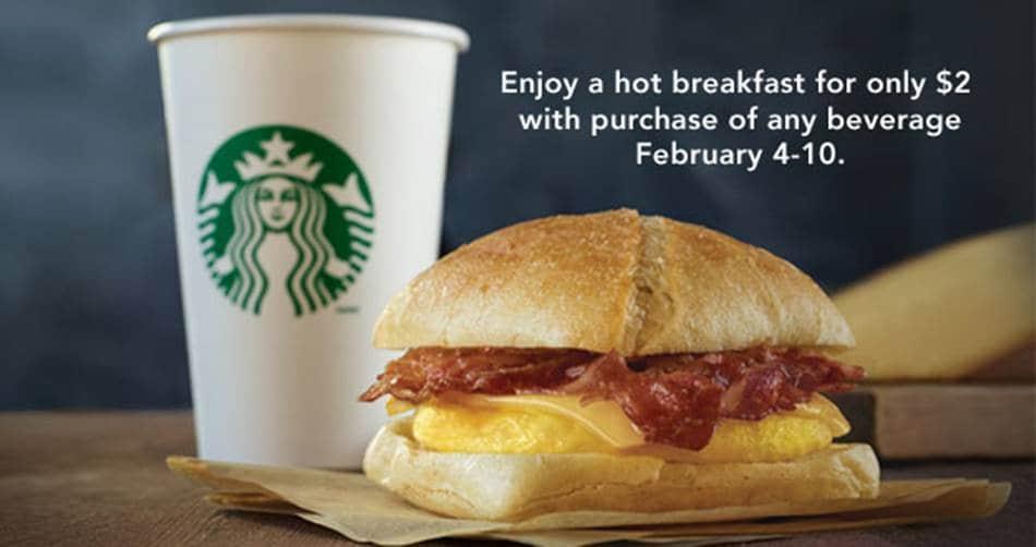 스타벅스 아침 메뉴 핫 브랙퍼스트 Hot breakfast for only 2$