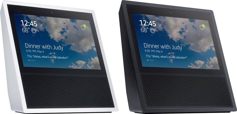 아마존 터치 스크린 달린 에코 하이트 및 블랙 컬러 Amazon Touch Screen Echo White & Black Color