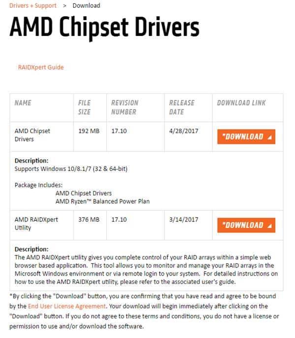 AMD Chipset Drivers를 최신으로 업데이트 하기
