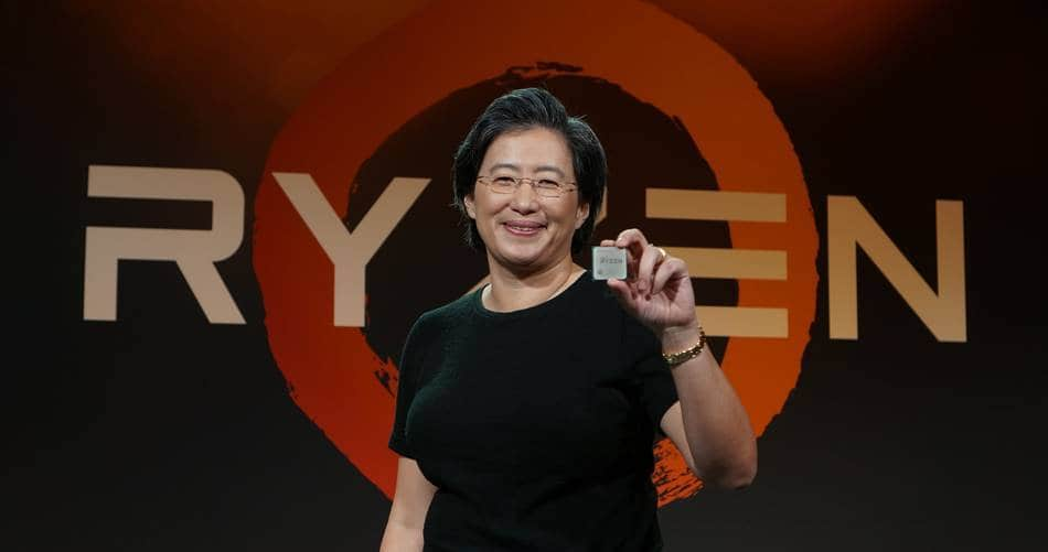 AMD Ryzen 발표하는 AMD CEO Lisa T Su
