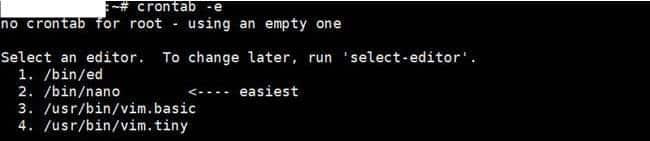 nginx 우분투에서 크론탭 등록시 처음 사용 할 편집기 선택