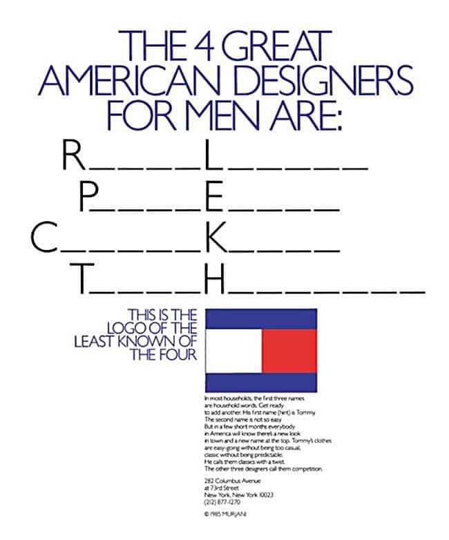 타미 힐피거(TOMMY HILFIGER) 1985년 첫번째 광고 1985 First Tommy Hilfiger Ad Campaign