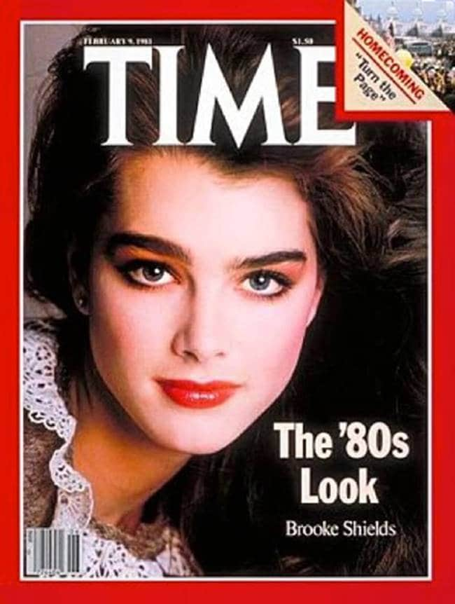 타임즈에 80년대 얼굴로 소개된 브륵실즈 Brooke Shields on TIME