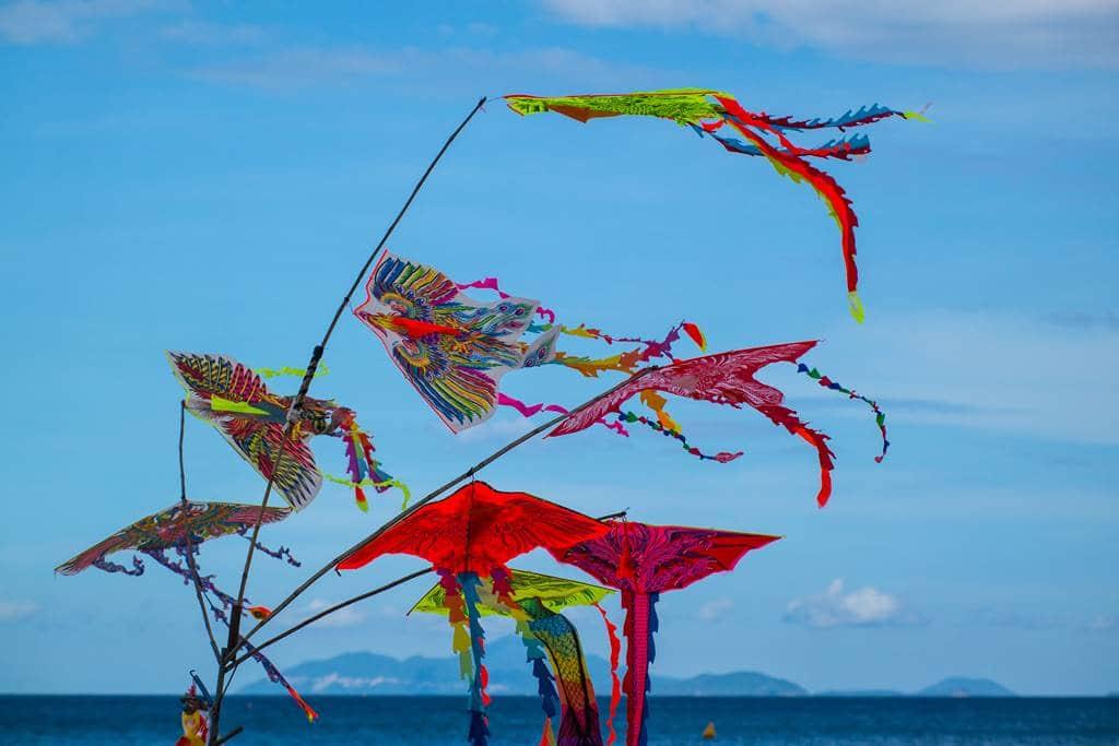다닝 미키 비치(My Khe Beach) 풍경 - 베트남 전통 연-3588