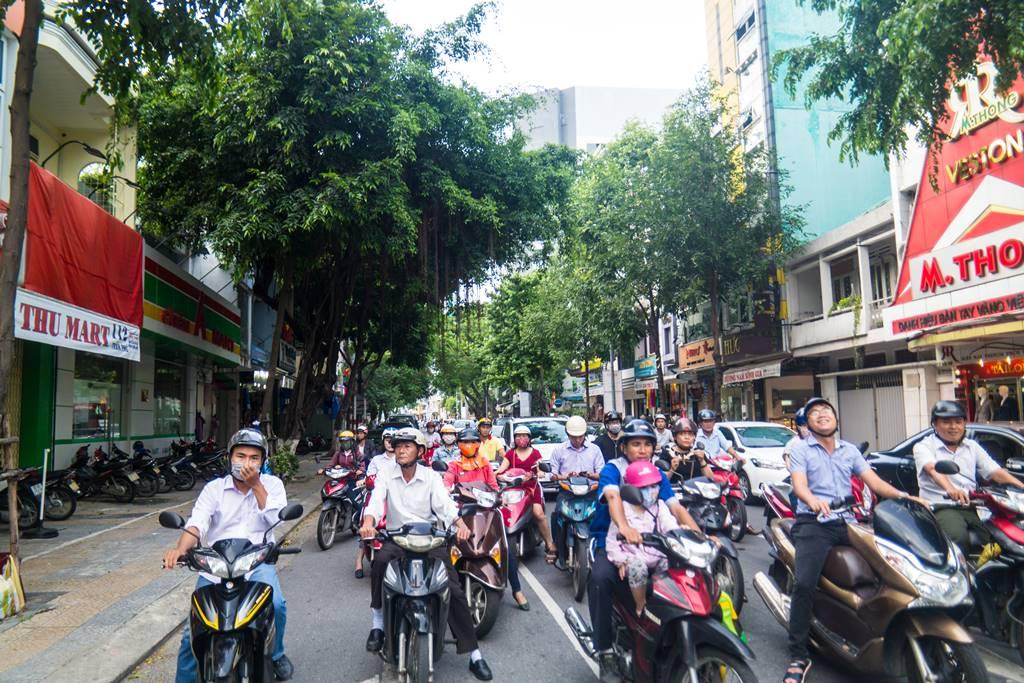 베트남 다낭 여행 - 다낭 한마켓 옆 오토바이 군단-3738