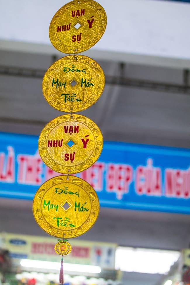 베트남 다낭 여행 - 다낭 한마켓 천장에 달린 장식-3715