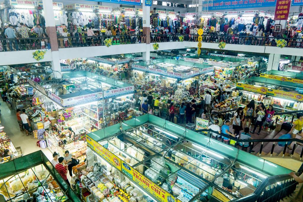 베트남 다낭 여행 - 다낭 한마켓 2층에서 내려 본 전경-3701