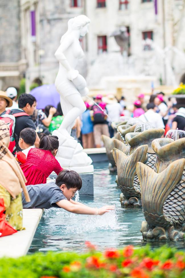 베트남 다낭 여행 - 바나 힐(Bana Hill) 광장 분수대 풍경