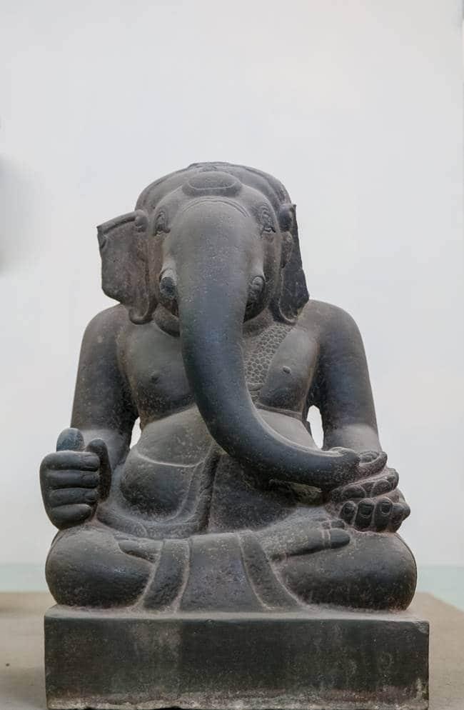 참 조각 박물관 - 힌두교 코끼리신 가네사-6236