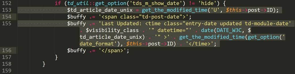 Wordpress theme Newspaper 8 td_module.php 153번째 155번째 줄 수정
