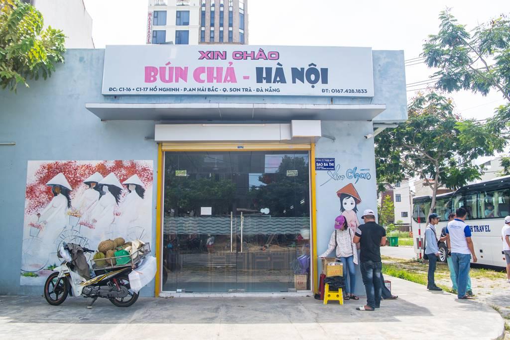 다낭 식당_한국인 운영 분짜 식당 HA NOI Xin Chao 정문-6316
