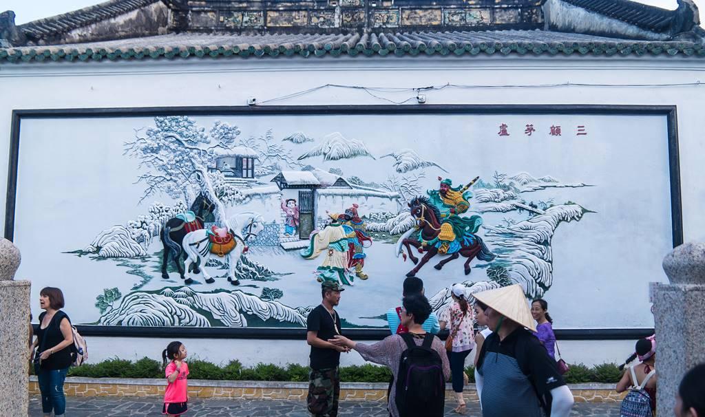 호이안 광둥 회관 도원결의 벽화-5564