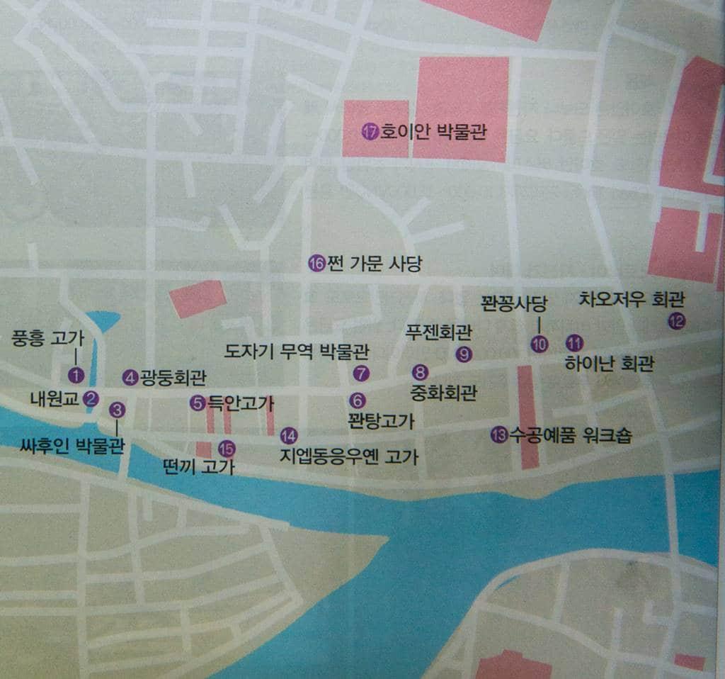 호이안 주요 관광지 위치도-7226
