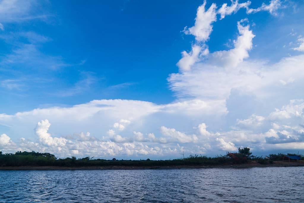 호이안 투몬강 멋진 구름 풍경