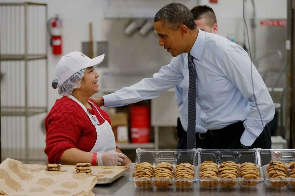 코스트코를 방문한 오바마 전 대통령
