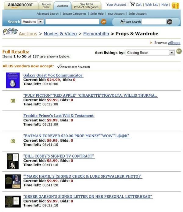 Amazon Auctions 아마존 옥션