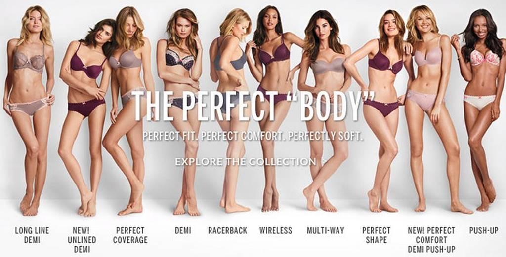 논란을 부른 빅토리아 시크릿(Victoria's Secret) 2014년 The Perfect Body 캠페인