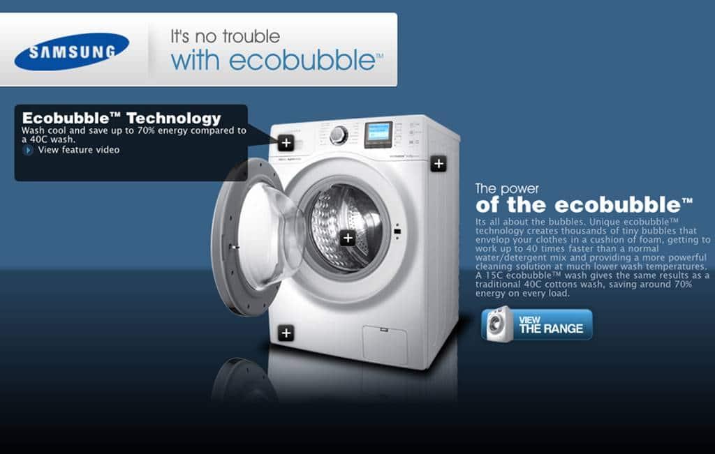 삼성 에코버블 세탁기 ecobubble