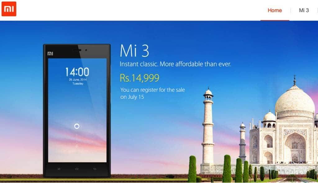 샤오미 인도 진출 첫 제품 Mi 3 Xiaomi-Mi3-India-Launch