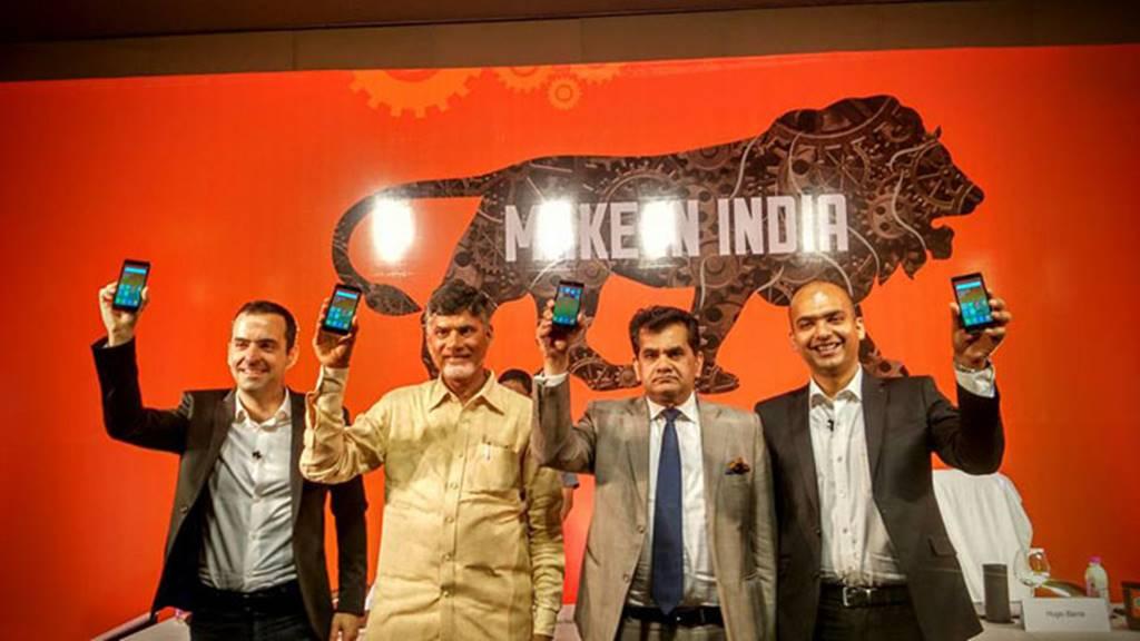 인도 샤오미 공장에서 생산하는 홍미2 프라임은 인도정부가 주관하는 Make in India 캠페인에 포함되었다 Makeinindia-xiaomi
